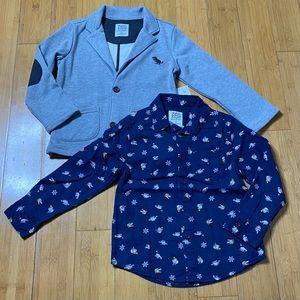 365 Kids Knit Blazer & Dinosaur Button Down 6